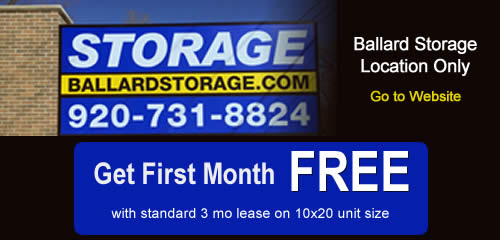 Get First Month Free at Ballard Storage